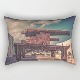 Protectors of Nassau Fort Charlotte Cannon Placement Bahamas Rectangular Pillow