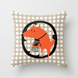Le corbeau et le renard Throw Pillow