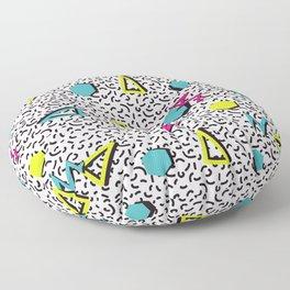 Funky 80s & 90s Memphis Pattern Design Floor Pillow