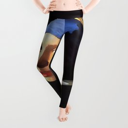 Girl with a Pearl Earring After Johannes Vermeer Leggings