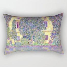 Gustav Klimt Schloss Kammer on the Attersee Rectangular Pillow