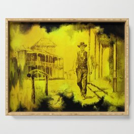High Noon - Gary Cooper - Hollywood posters Serving Tray