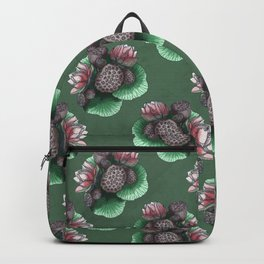 Lotus Flower and Seed Backpack
