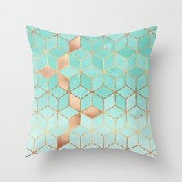 Soft Gradient Aquamarine Deko-Kissen