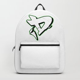"""D"" Green URBAN GRAFFITI STREET DESIGN Backpack"