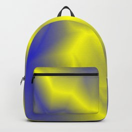 Blurry outlines of yellow lightning with a swirling gap. Backpack
