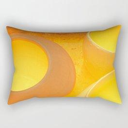 Pots Cool Inside A Kiln Rectangular Pillow
