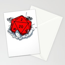 Gamer Dungeon RPG dice tabletop funny gift Stationery Cards