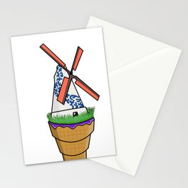 Windmill Ice Cream Colour Stationery Cards
