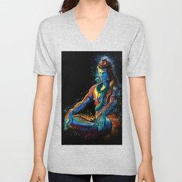 Eternal Lord Shiva in Meditation Unisex V-Neck