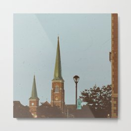 Old Church Rooftops in Niagara Falls Metal Print