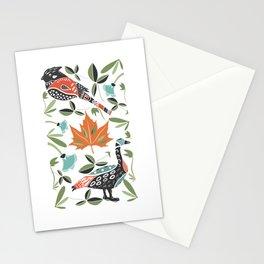 Canadian Maple Folk Art Stationery Cards