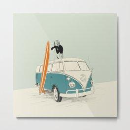 Wild Surfer Metal Print