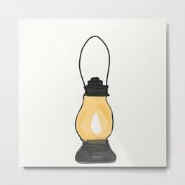 Indian Lantern Lamp | Minimalist doodles Art Metal Print