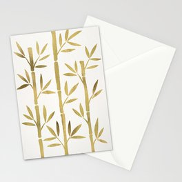 Bamboo Stems – Gold Palette Stationery Cards