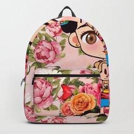 Frida cartoon roses Backpack