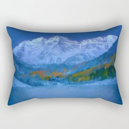 Maroon Bells Early Morning Abstract Rectangular Pillow