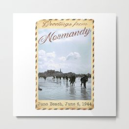 Greetings from Normandy - Juno Beach Metal Print