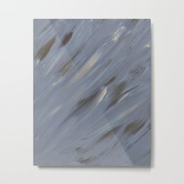 Grey Swoops Metal Print