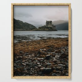 Eliean Donan Castle Scotland nature isle of skye scottish castles Serving Tray
