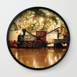 Christmas Tree and Train Wall Clock