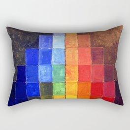 Hot Dissonance, Cold Dissonance Color Palette - The Talisman of Sérusier by Paul Serusier Rectangular Pillow