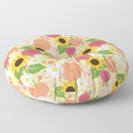 Summer Sunflower Floor Pillow