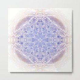 Mystic Fountain Meditation Mandala Metal Print