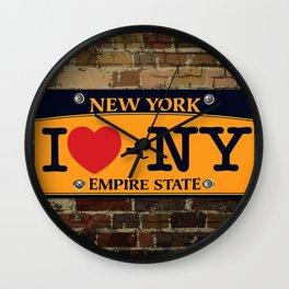 I love NY New York Car Licence Plate Wall Clock