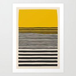 Mid Century Modern Art Print, Abstract Rainbow Arch wall art, Geometric Arch Print, yellow wall art, Art Print