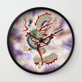 Dragon in the Cloud Type D: Minhwa-Korean traditional/folk art Wall Clock