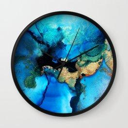Stella Blue & Gold Wall Clock