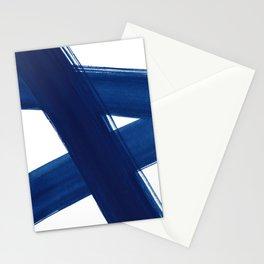 Indigo Abstract Brush Strokes | No. 4 Stationery Cards