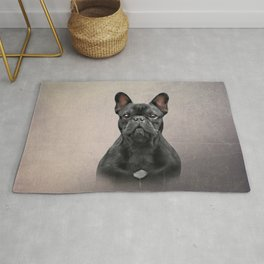 Drawing dog French Bulldog Rug