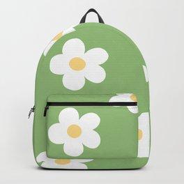 Retro 60's Flower Power Print Backpack