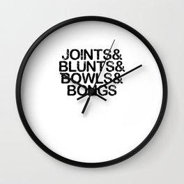 Joints & Bongs Wall Clock