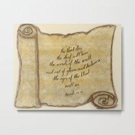 Scroll of Isaiah Metal Print