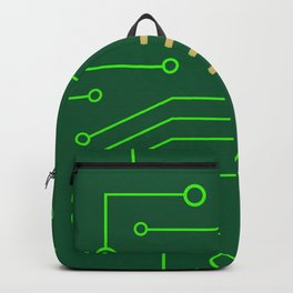 Microchip Pcb, tech print Backpack