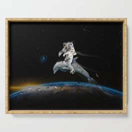 Space Riding Serving Tray