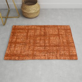 Textured Tweed - Rust Orange Rug