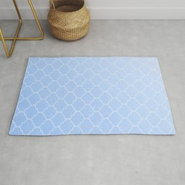 Blue Lattice Pattern Rug