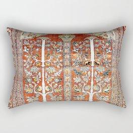 Silk Tabriz Northwest Persian Rug Print Rectangular Pillow