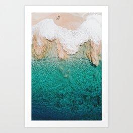 Shimmering To Shore Art Print