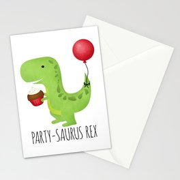 Party-Saurus Rex Stationery Cards