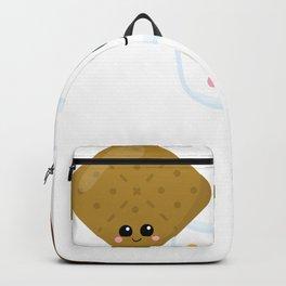 Kawaii Graham Cracker Kawaii Marshmallow Kawaii Chocolate Kawaii Smores Backpack