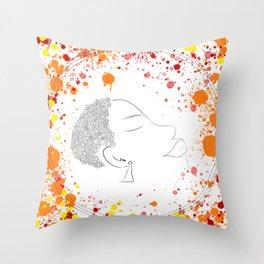 Sisanda : Still growing Throw Pillow
