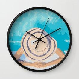 Poolside Sunning Wall Clock