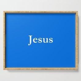 Jesus 6 blue Serving Tray