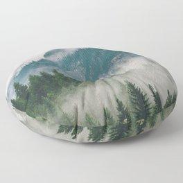 Vancouver Fog Floor Pillow