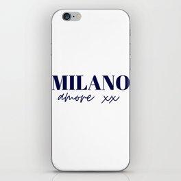 Milano Amore xx Navy iPhone Skin